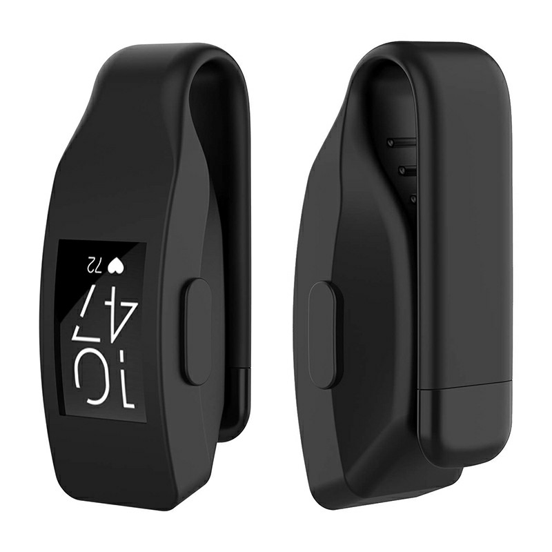 Soft Silicone Replacement Case Clip Holder Fitting for Fitbit Inspire and Inspire HR - Black