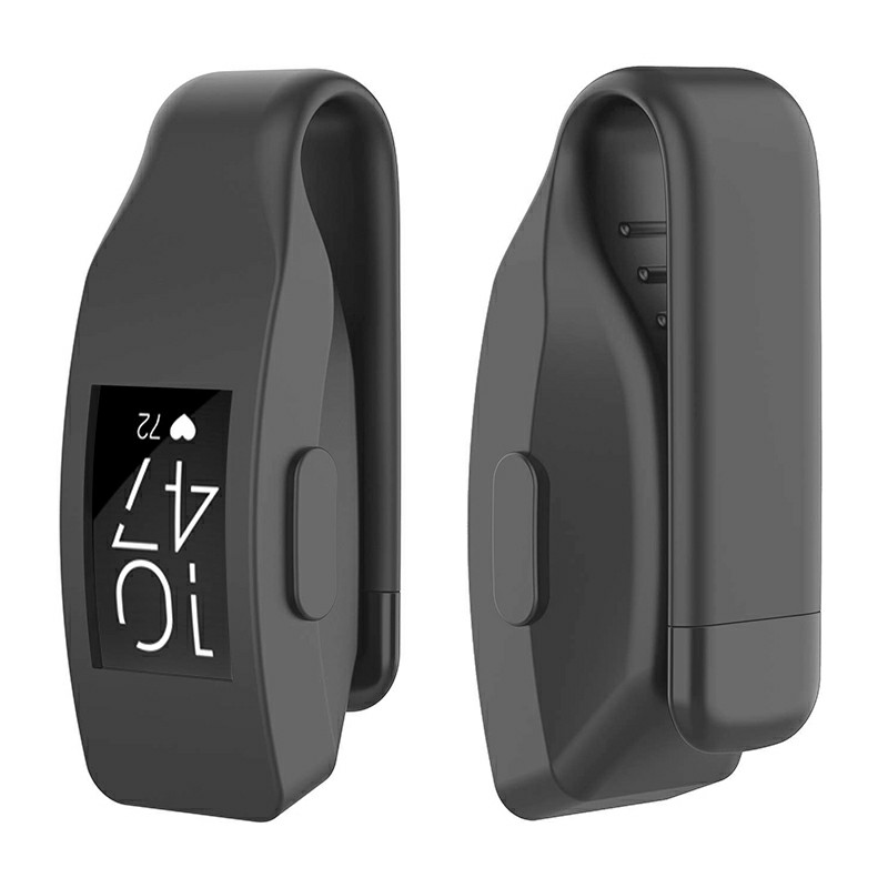 Soft Silicone Replacement Case Clip Holder Fitting for Fitbit Inspire and Inspire HR - Grey