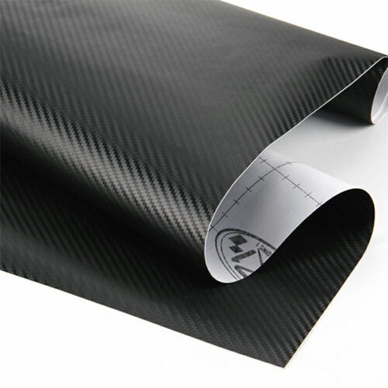 3D Carbon Fibre Car Vinyl Wrap Film Sheet Decal Sticker Roll Film Decals Waterproof Rustproof Car Wrap - 152x60CM