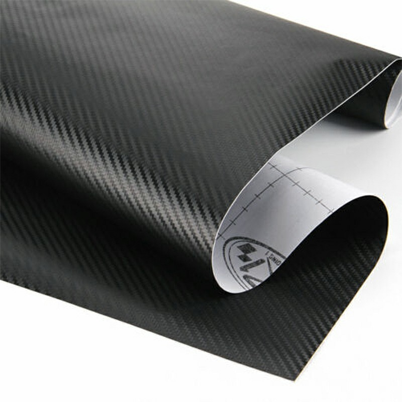 3D Carbon Fibre Car Vinyl Wrap Film Sheet Decal Sticker Roll Film Decals Waterproof Rustproof Car Wrap - 152x30CM