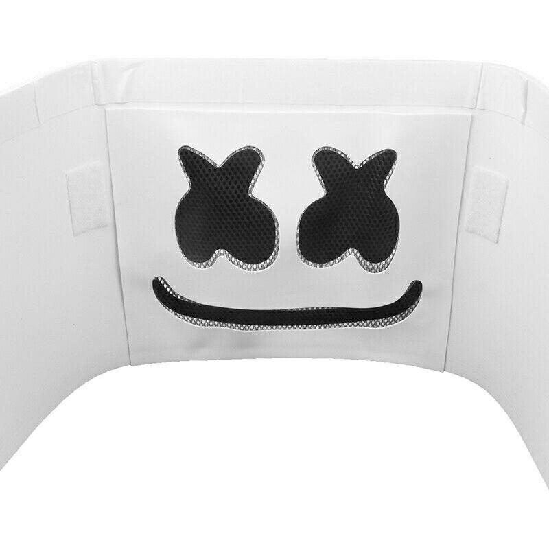 Marshmello DJ Mask Full Head Helmet Halloween Cosplay Mask Mask Bar Music Marshmallow Mask