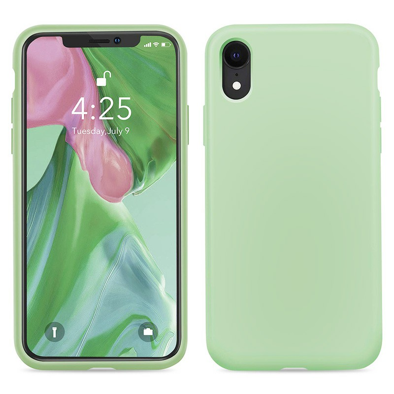 Soft Protective Phone Case Ultra Thin TPU Liquid Silicone Cover Shockproof Case for iPhone XR - Green