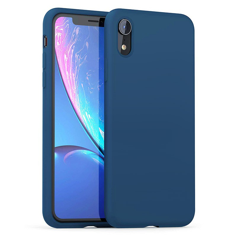 Soft Protective Phone Case Ultra Thin TPU Liquid Silicone Cover Shockproof Case for iPhone XR - Blue