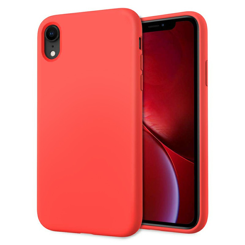 Soft Protective Phone Case Ultra Thin TPU Liquid Silicone Cover Shockproof Case for iPhone XR - Red