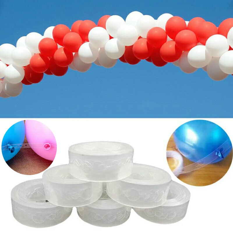 5m Length Unique Balloon Arch Decor Strip Connecting Chain Plastic DIY Tape Party Decoration