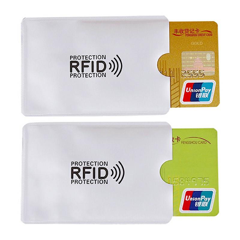 Bank Card Blocking Contactless Debit Credit Protector Sleeve Rfid Wallet Case Holder Aluminum Foil Shielding Card Holder