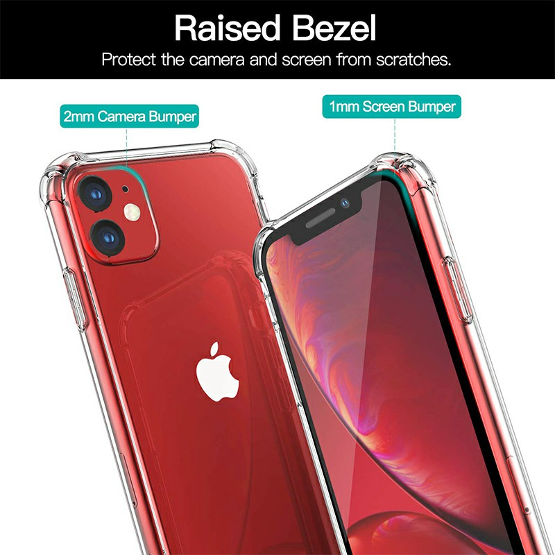 Clear Transparent TPU Soft Skin Silicone Protective Phone Case Scratch Resistant Back Case for iPhone 11 - Clear