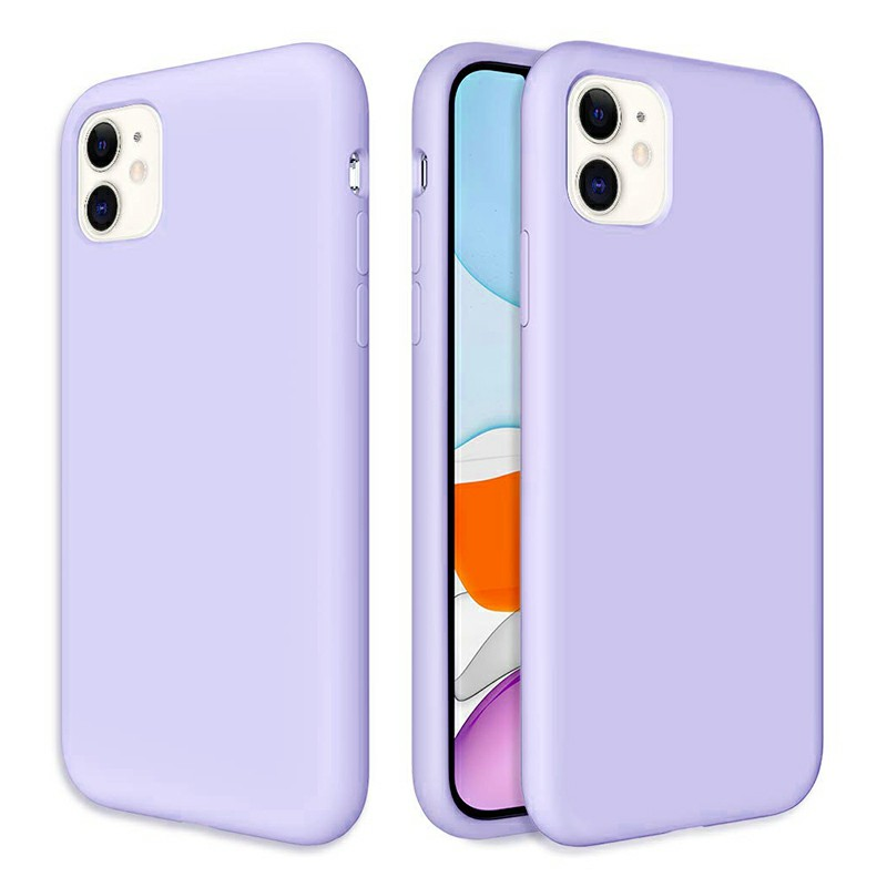 Ultra Soft and Slim Phone Case Cover Silicone Gel Shockproof Cover Case for iPhone 11 - Purple