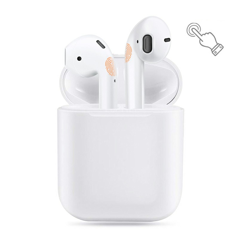 i18 TWS 5.0 Bluetooth Earphone Wireless Charging Touch Control Bass HiFi Stereo Wireless Earbuds - White