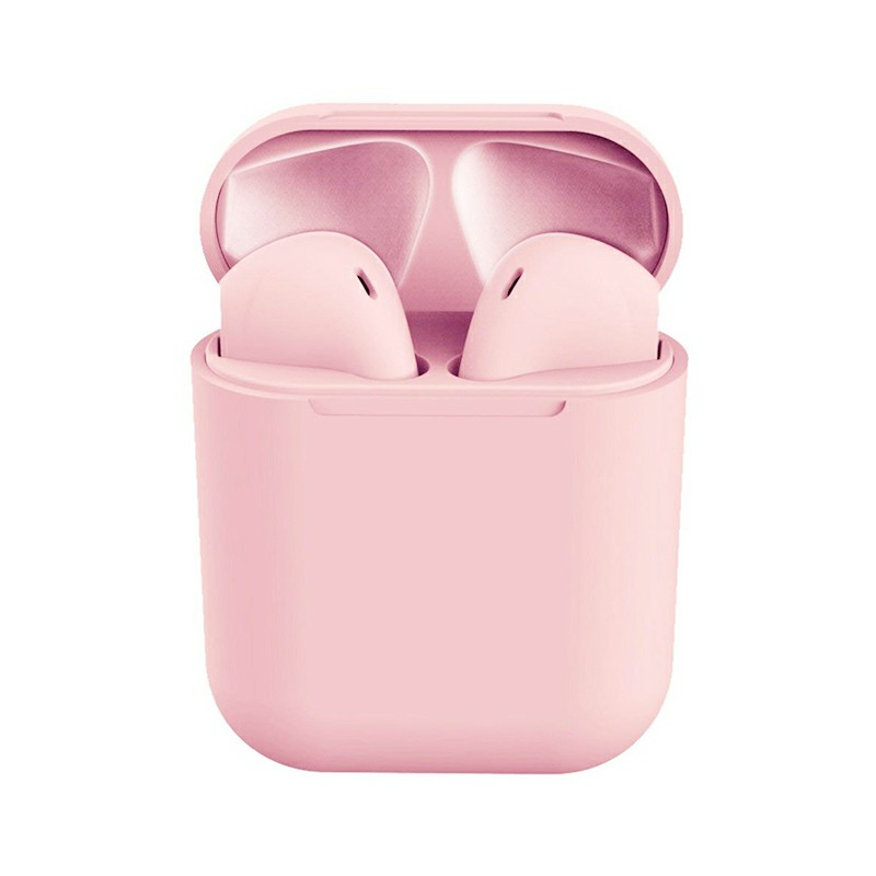 Macarons Pods TWS Wireless Bluetooth Headphone HiFi Headsets Super Bass Sound Earbuds with Mic for iOS Android - Pink