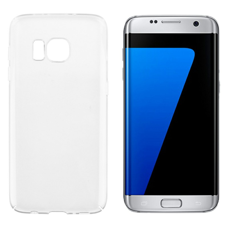 Transparent PC Case Back Cover Shockproof Clear Hard Fitted Cases Cellphone Case for Samsung Galaxy S7