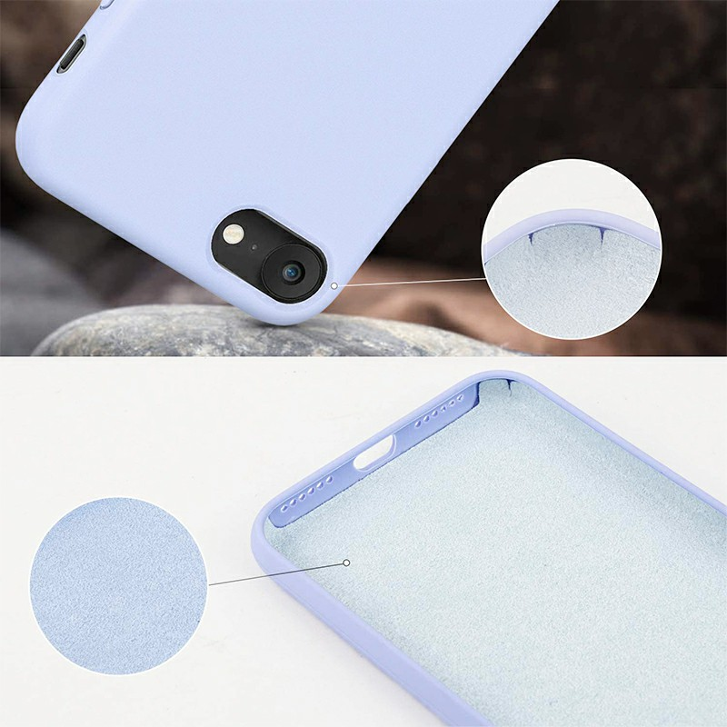 Anti Fingerprint Scratch Resistant Back Cover Soft Silicone Shockproof Cover Smooth Case for iPhone 7/8 - Purple