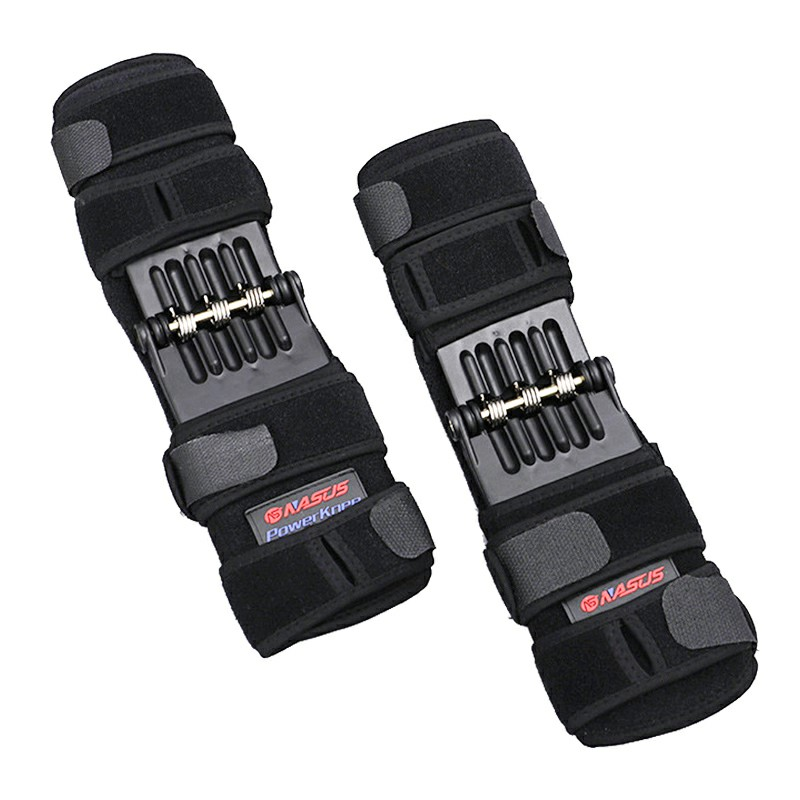 One Pair Joint Support Knee Pads Power Lift Brace Pad Rebound Spring Force Running Leg Band Knee Booster
