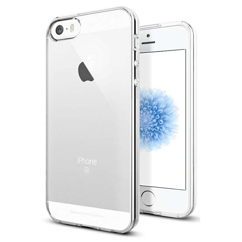 Soft TPU Bumper Case Transparent Clear Back Cover Soft Crystal Phone Case for iPhone SE