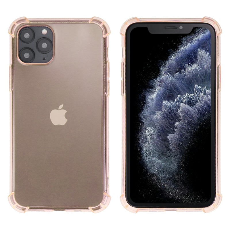 TPU Phone Case Soft Skin Silicone Protective Case Scratch Resistant Case for iPhone 11 Pro Max - Gold