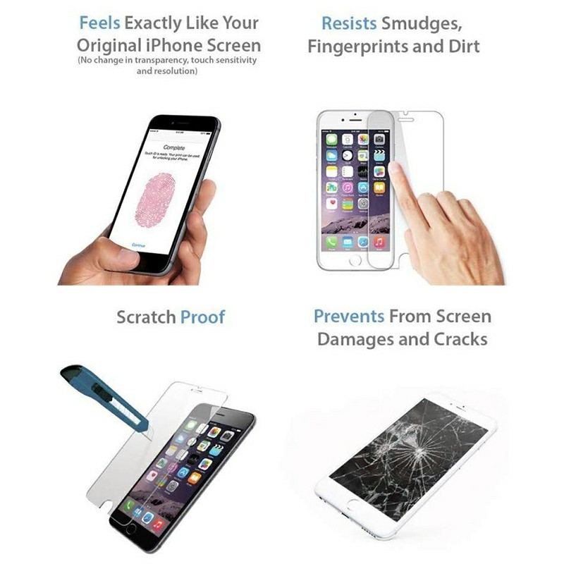 Scratchproof Screen Film Protector Screen Protective Film iPhone Tempered Glass Screen Protector for iPhone 6/6s