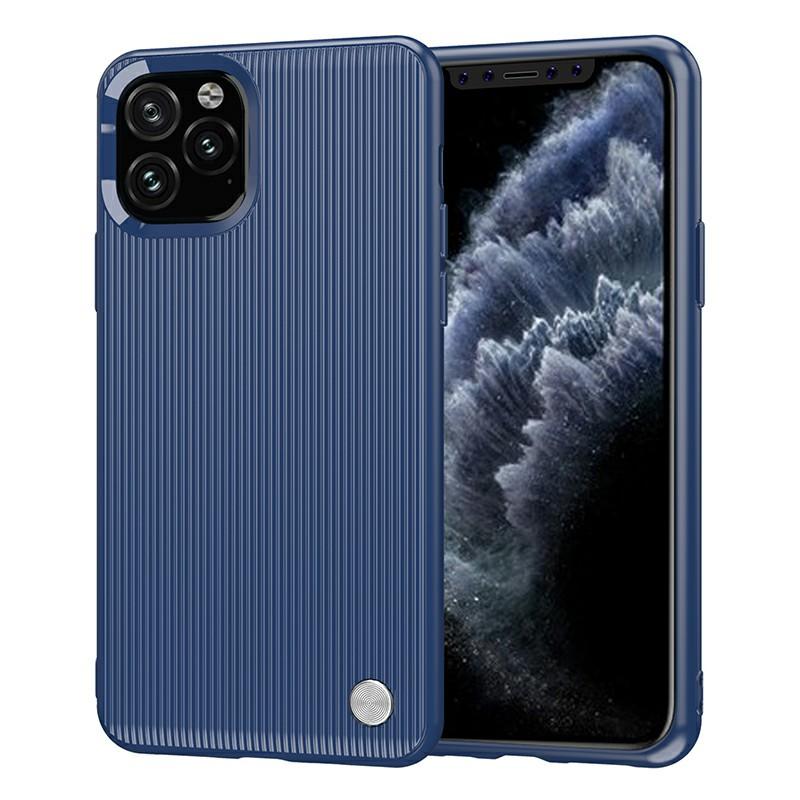 Creative Vertical Striped Back Cover Soft TPU Phone Case Ultra Slim Fitted Case for iPhone 11 Pro - Blue