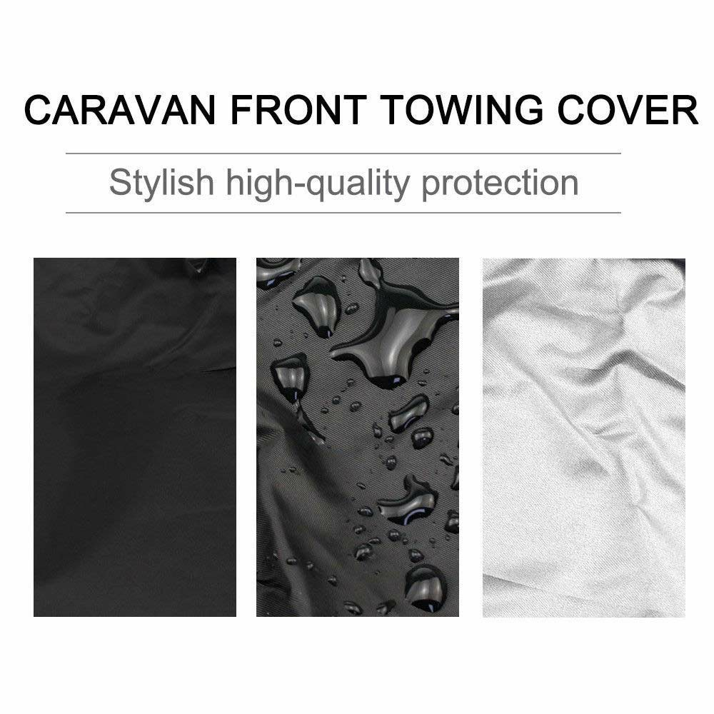 210D Caravan Front Towing Protector Covers Towing Cover Protector Universal Shield Guard - Black