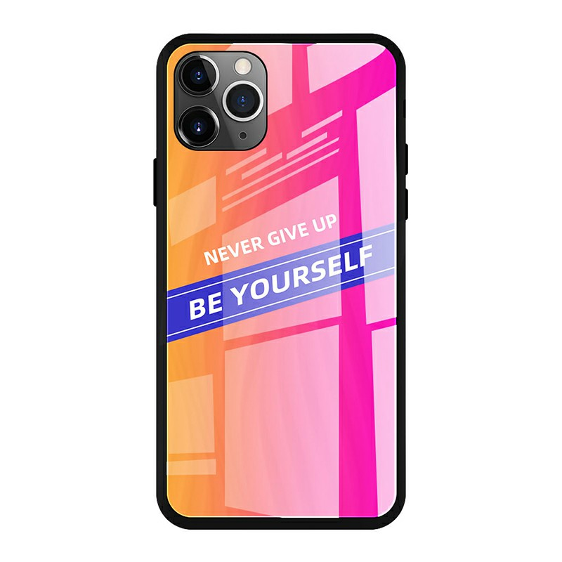 Colourful Tempered Glass Phone Back Case Smooth Mirror Mobile Phone Cover for iPhone 11 Pro Max - CP-06