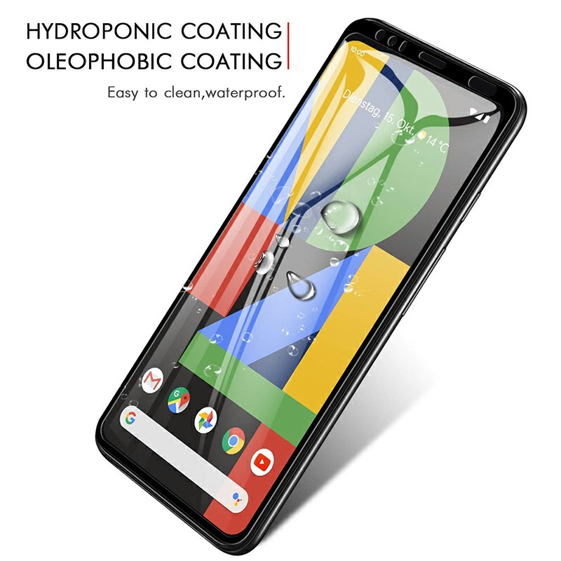Professional Screen Protective Film Screen Protector 3D Glass Tempered Glass Curved Glass for Google Pixel 4 - Black