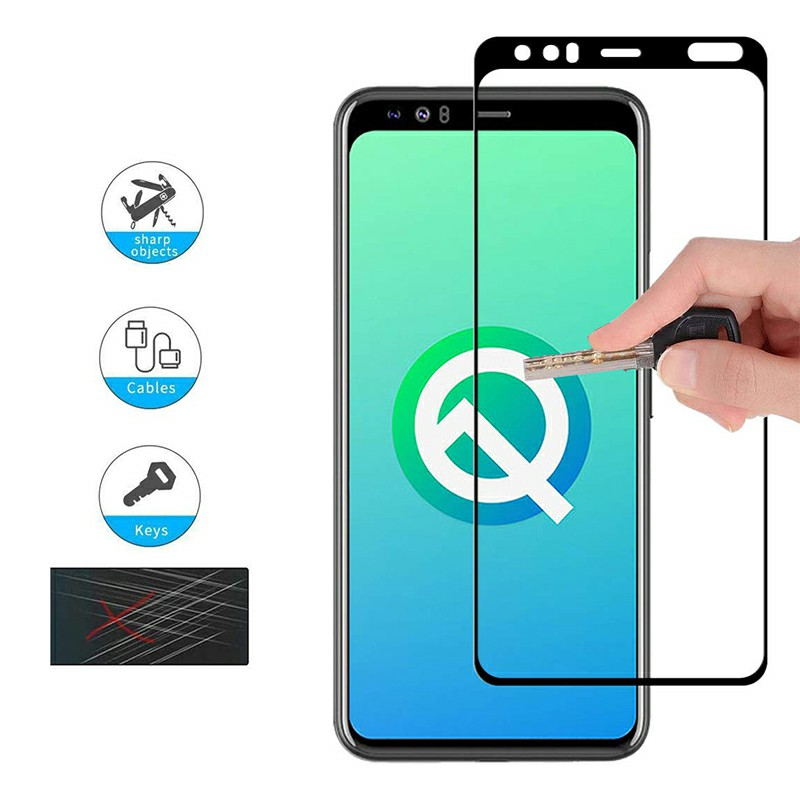 Professional Screen Protective Film Screen Protector 3D Glass Tempered Glass Curved Glass for Google Pixel 4XL - Black