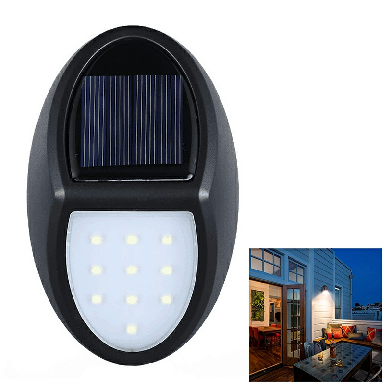 10 LED SMD 2835 Solar Powered IP65 Waterproof Motion Sensor Outdoor Courtyard LED Wall Light