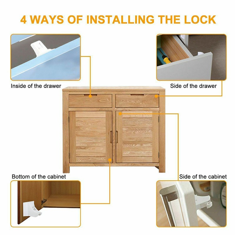 Invisible Safety Baby Magnetic Cupboard Drawers Locks Door Child Baby Pet Proof