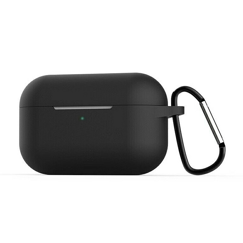Super Soft Silicone Protective Case Cover Portable Wireless Bluetooth Earphone for Apple AirPods Pro - Black