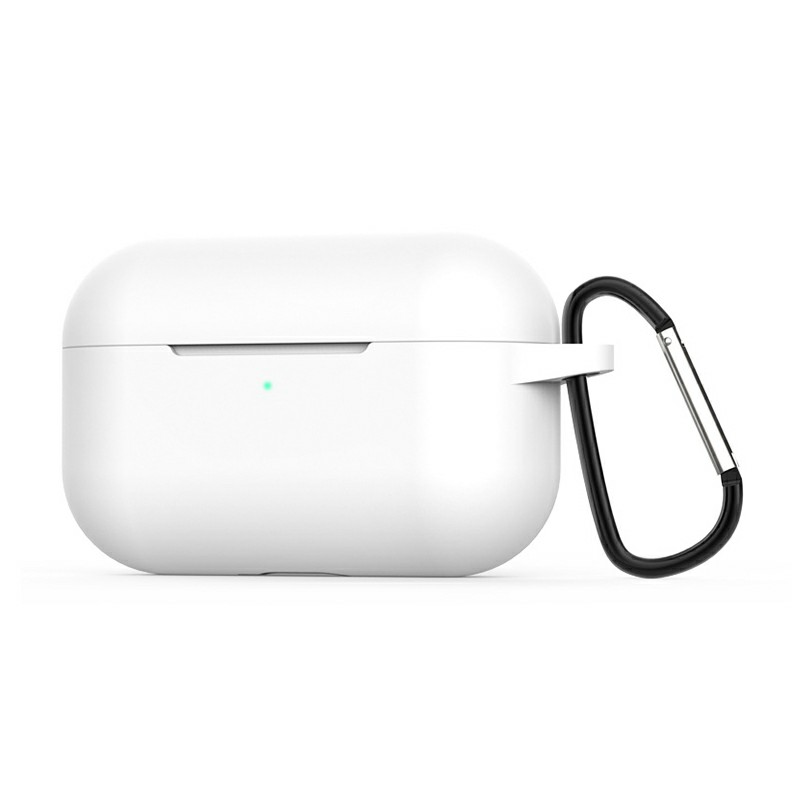 Super Soft Silicone Protective Case Cover Portable Wireless Bluetooth Earphone for Apple AirPods Pro - White