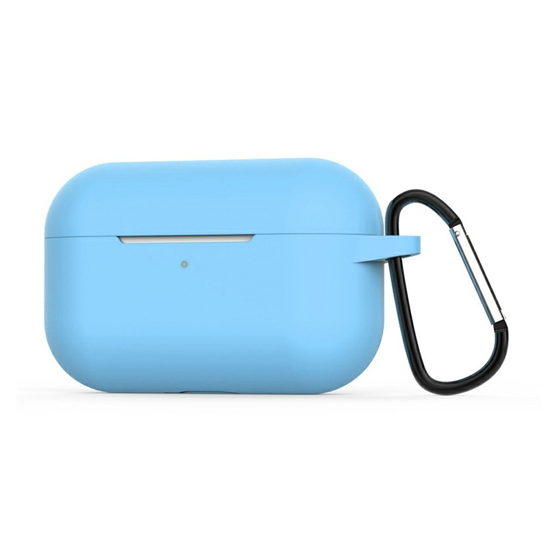 Super Soft Silicone Protective Case Cover Portable Wireless Bluetooth Earphone for Apple AirPods Pro - Blue
