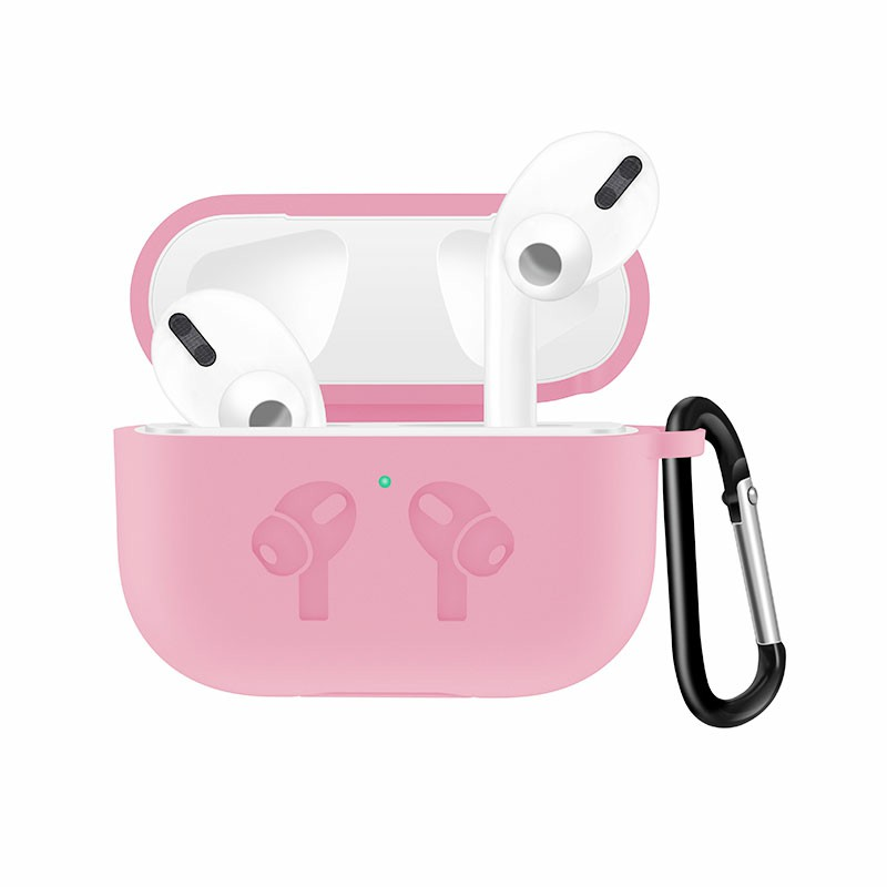 Thickened Wireless Bluetooth Earphone very Soft Silicone Protective Case Cover for Apple AirPods 3 - Pink