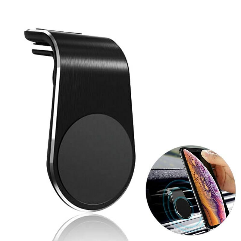 Universal Magnetic Phone Holder Clip Car Air Vent Bracket Suction Socket for Mobile Phones GPS - Black
