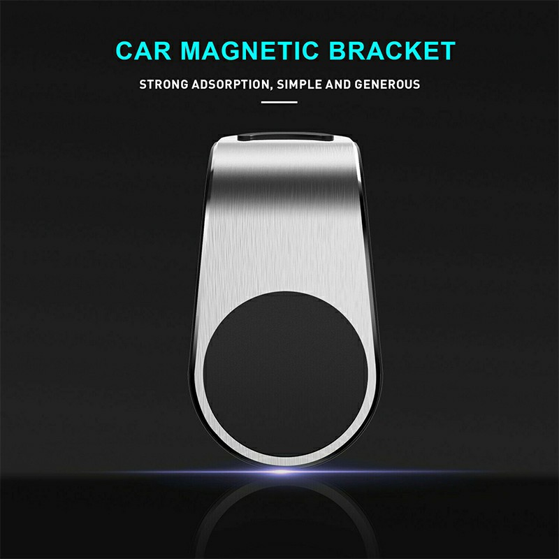 Universal Magnetic Phone Holder Clip Car Air Vent Bracket Suction Socket for Mobile Phones GPS - Silver