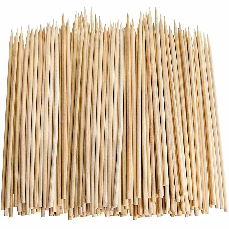 Disposable 100 PCS Skewers in Bamboo One-time Barbecue Bamboo Grill Roasting Sticks for Meat Fruit Shrimp Length - 300mm