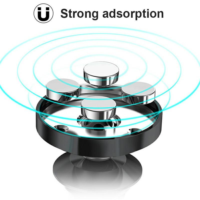 Universal Magnetic Phone Holder Clip Car Air Vent Bracket for Mobile Phones GPS Devnices - Black