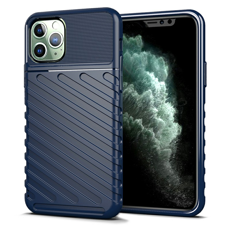 Soft Silicone Slim Phone Case Mobile Phone Back Cover Protective Case for iPhone 11 Pro - Blue