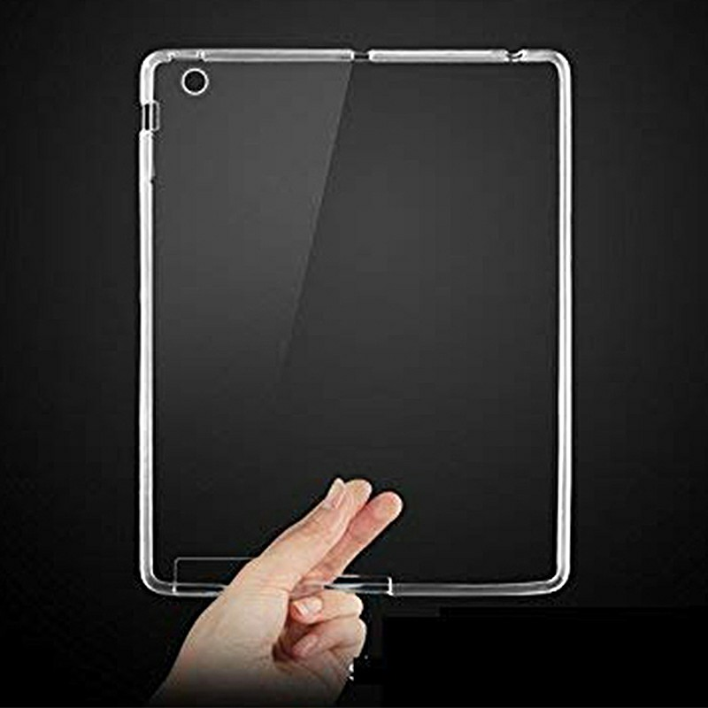 Slim Enviromental Tablet Back Cover Protection Clear TPU Flexible Case for iPad 2/3/4 - Transparent