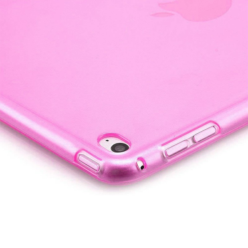 Slim Enviromental Tablet Back Cover Protection Clear TPU Flexible Case for iPad 2/3/4 - Pink