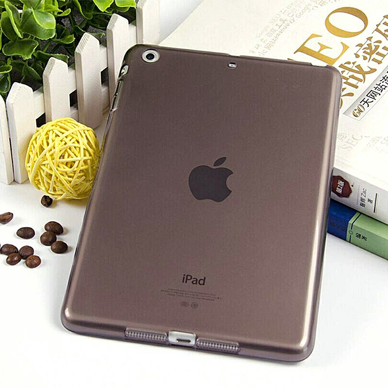 Simple Clear TPU Soft Tablet Case Protective Back Cover for iPad Mini 1 / 2 / 3 - Black