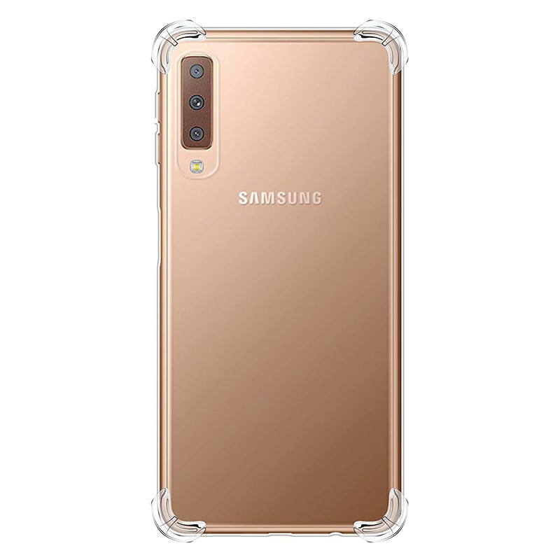 Transparent Soft TPU Silicon Bumper Slim Phone Back Cover Protective Skin Case for Samsung Galaxy A7 2018
