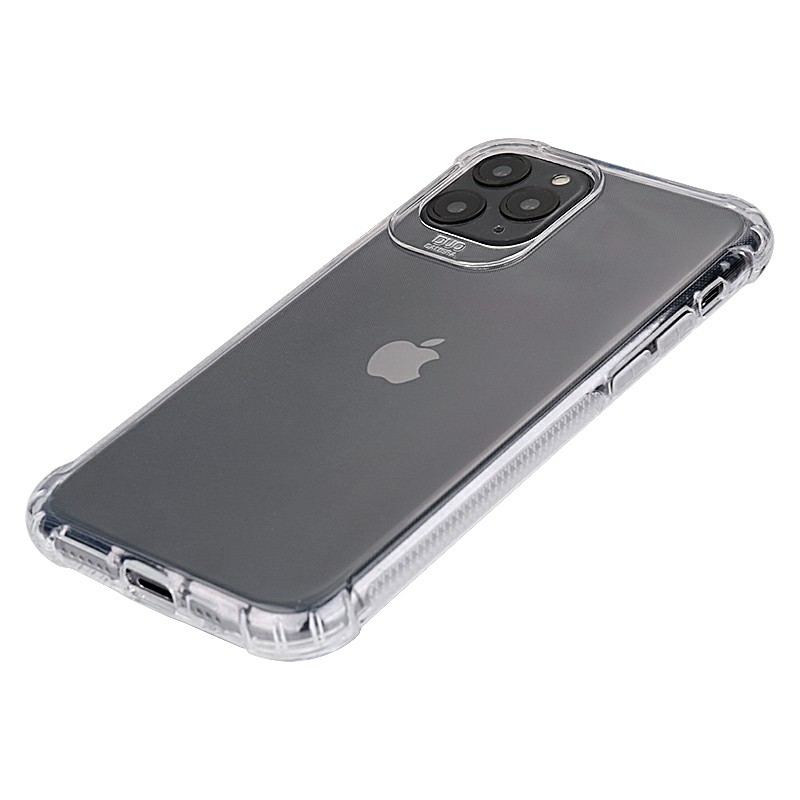 Ultra Slim Back Bumper Cover Soft TPU Rubber Fitted Skin Silicone Protective Case for iPhone 11 Pro - Clear