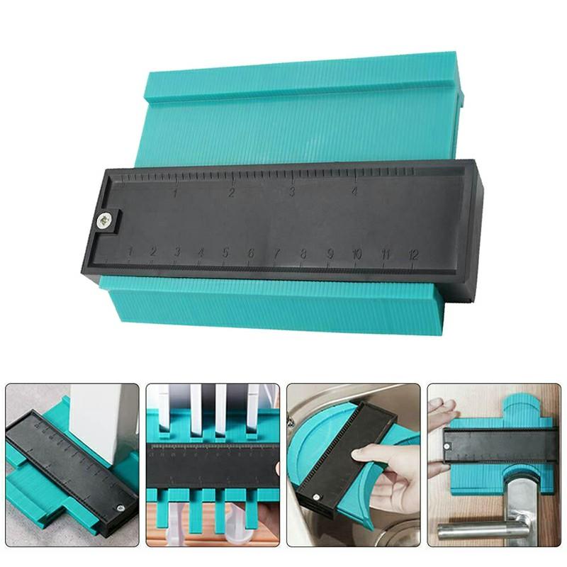 10 inches Shape Contour Copy Duplicator Ruled Contour Frame Profile Gauge Tool Contour Gauge - Blue