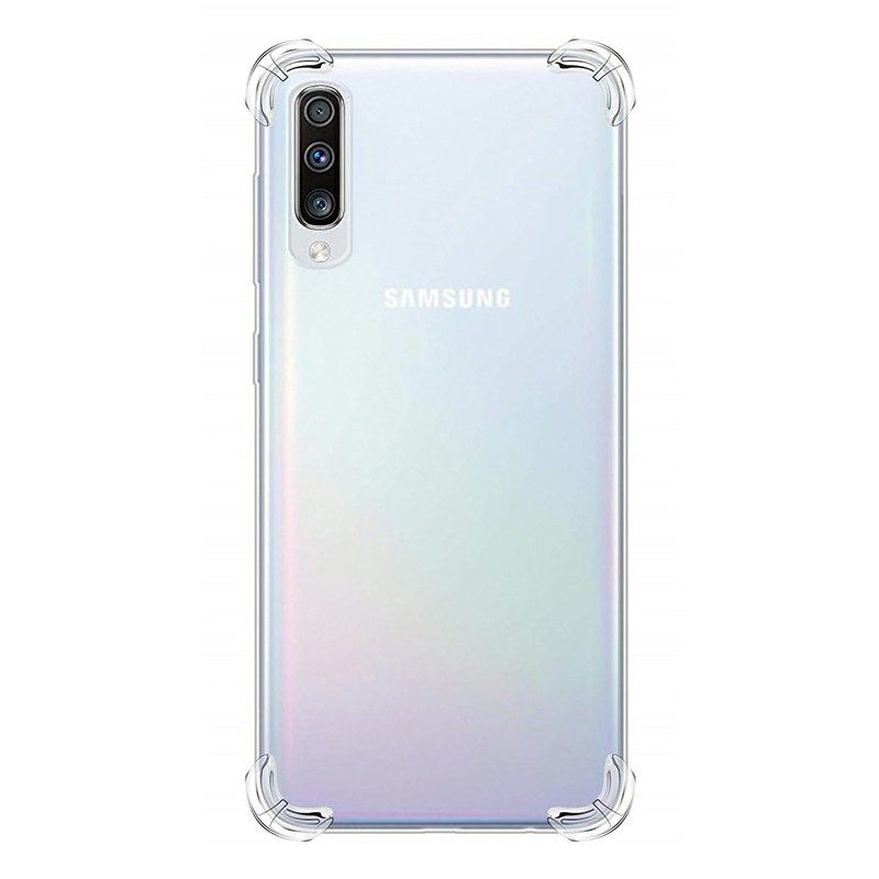 Fitted Soft TPU Silicon Case Shockproof Bumper Slim Clear Phone Back Cover for Samsung Galaxy A50