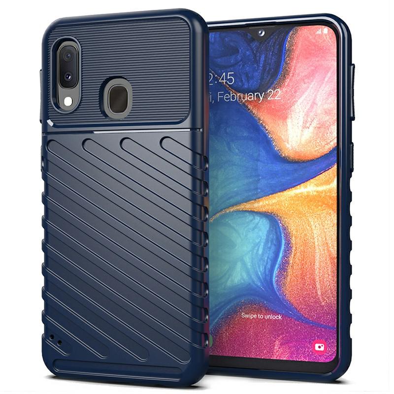 Slim Back Cover Soft TPU Phone Case Bumper Case for Samsung Galaxy A20E - Blue