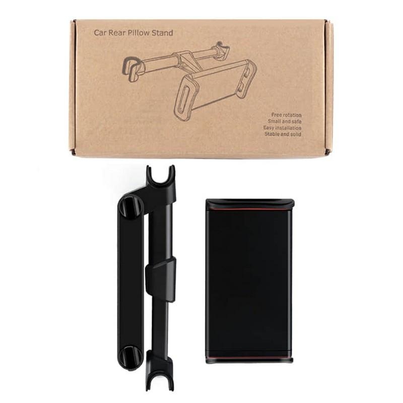 CHZ-06 Snap-on 360 Degree Rotating Car Rear Seat Bracket for Phone Tablet Telescopic Holder - White