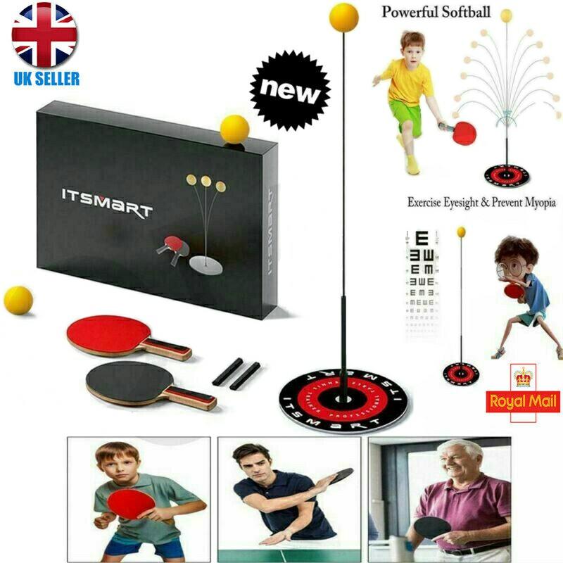 Table Tennis Trainer Equipment Set Practice Rebound Robot Rebound Trainer Fixed Indoor Use