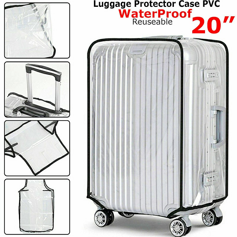 Waterproof PVC Suitcase Protector Case Cover Anti Scratch Clear Cover Fit for 20 inches Suitcase
