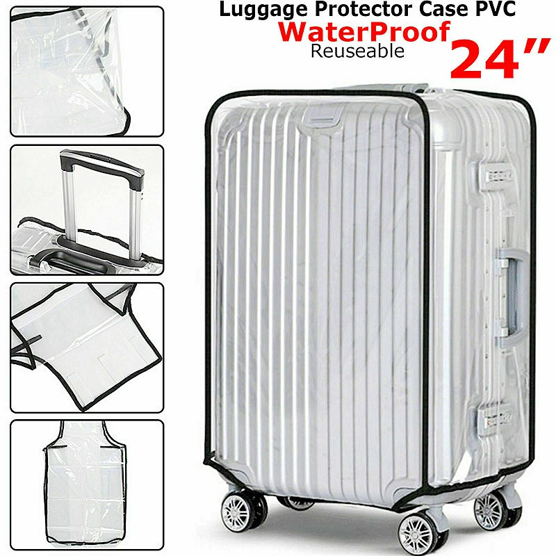 Waterproof PVC Suitcase Protector Case Cover Anti Scratch Clear Cover Fit for 24 inches Suitcase