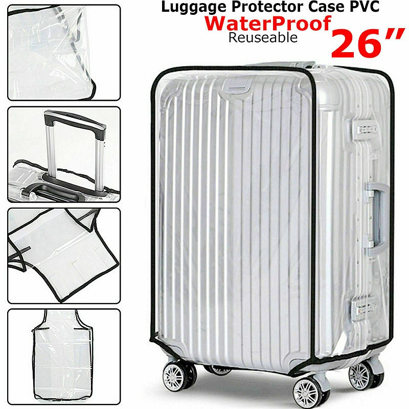 Waterproof PVC Suitcase Protector Case Cover Anti Scratch Clear Cover Fit for 26 inches Suitcase