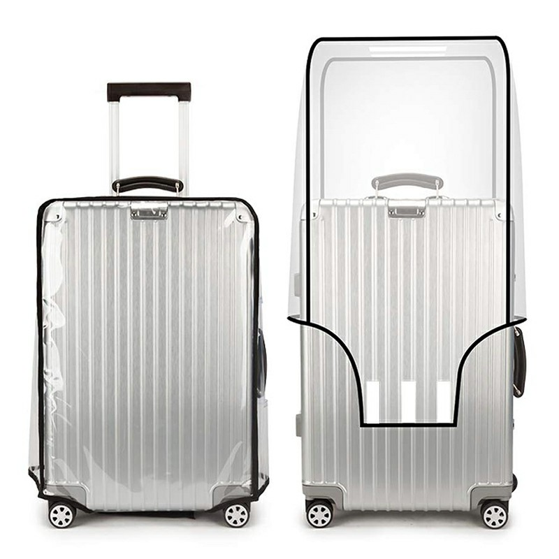 Reusable Zip Suitcase Waterproof PVC Protector Case Cover Anti Dust Transparent Cover Fit for 18 inches Suitcase